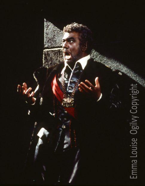 Placido Domingo performing in Otello