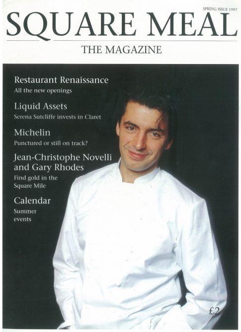 Jean Christophe Novelli, 'Square Meal' magazine cover