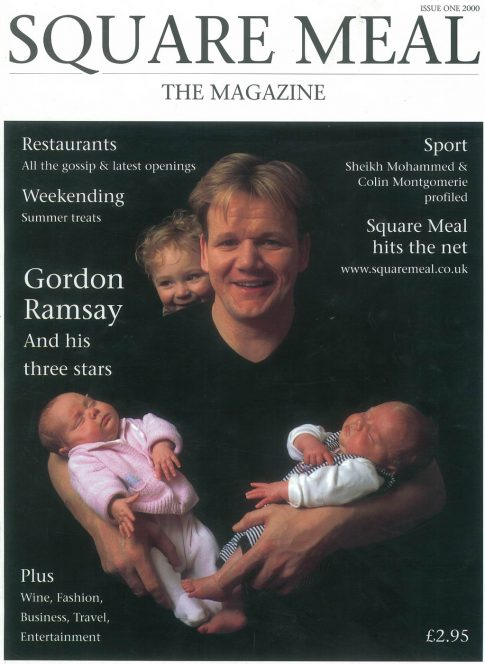 Gordon Ramsay on the 'Square Meal' magazine cover