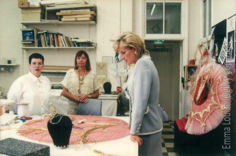 Princess Diana visiting English National Ballet